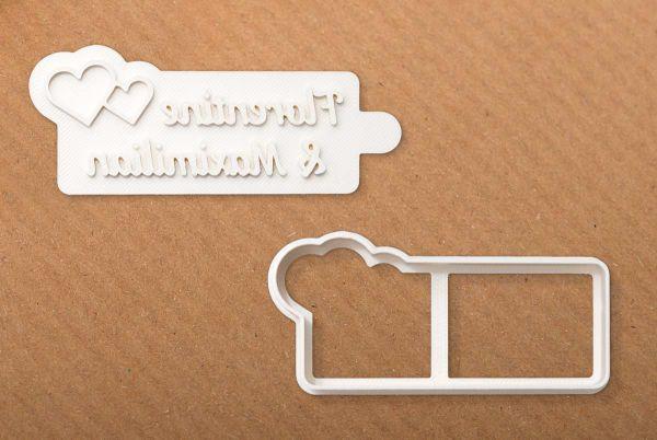 """Ausstechform """"Hochzeit"""" mit individuellem Keksstempel"""