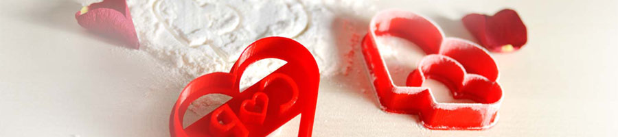 Ausstechformen / Keksstempel Valentinstag